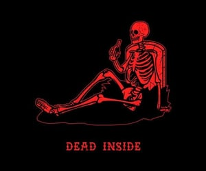 skeleton, dead, and red image