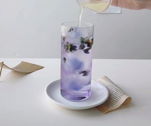 drink, purple, and aesthetic image