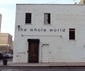 world, white, and building image