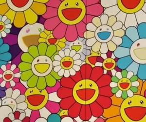 aesthetic, rainbow, and Murakami image