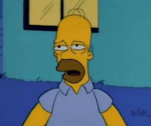 gif, tired, and homer simpson image