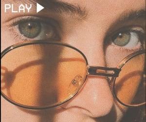 aesthetic, eyes, and yellow image