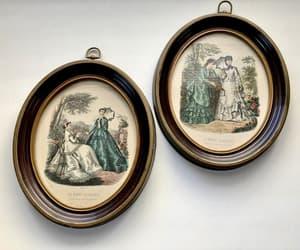 antiques, la mode illustree, and vintage framed art image