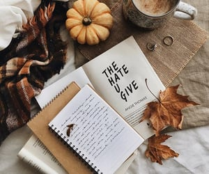book, autumn, and pumpkin image