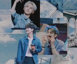 aesthetic, blue, and korea image