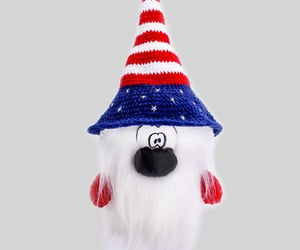 american flag, crochet toys, and gift for mom image