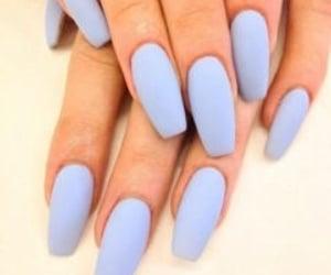 blue, nails, and nailsart image