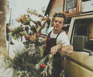 flowers, Harry Styles, and one direction image