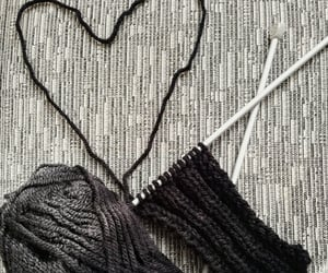 knitting, scarf, and snow image
