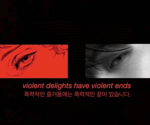 black and white, red, and taehyung image