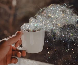 glitter, cup, and art image