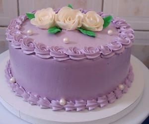 birthday, cakes, and flowers image