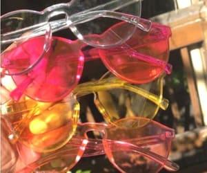 vintage sunglasses, square sunglasses, and circular sunglasses image