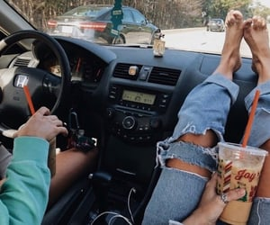 car, aesthetic, and best friends image