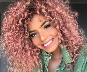 hair, beautiful, and pink image