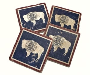 etsy, drink coasters, and rustic image