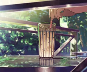 anime, drink, and drinks image