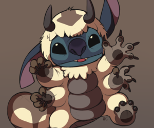 stitch, avatar, and appa image