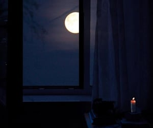 photography, candle, and moon image
