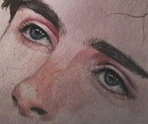 boy, drawing, and eyes image