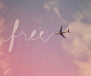 free, sky, and text image