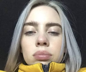 grey hair and billie eilish image