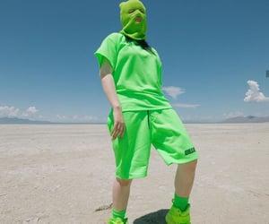green and billie eilish image