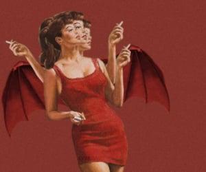 Devil, red, and vintage image