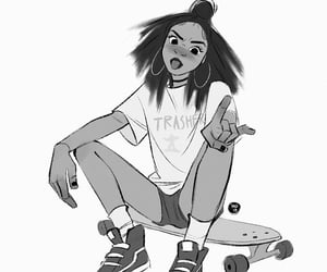 artwork, draw girl, and desing image
