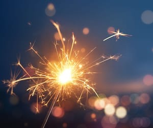 fireworks, new years, and sparkler image