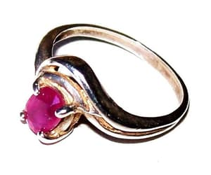 etsy, vintage ring, and ruby ring image