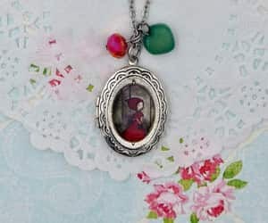 red riding hood, boho wedding, and photo locket image