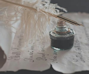 aesthetic, ink, and Letter image