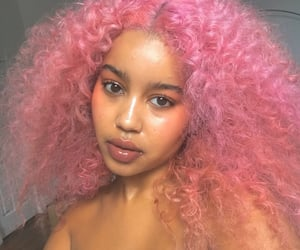 girl, pink, and alternative image