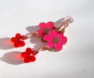 etsy, bright red, and garden party image