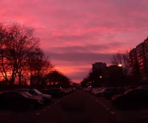 germany, pink sky, and red sky image