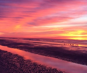 beaches, sunset, and sunsets image