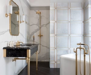 bathroom, marble, and room image