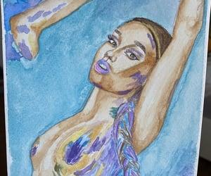 watercolor and ariana grande image