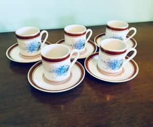blue flowers, demitasse, and set of 5 image