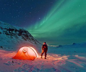 snow, camping, and nature image