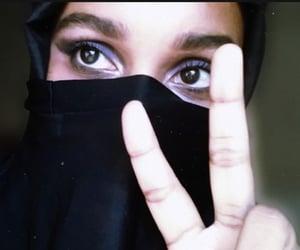 black, niqab, and hijab image