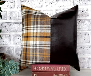 etsy, fauxleather, and faux leather pillow image