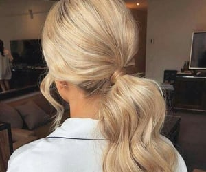 fashion hair, hairstyle, and pony tail image