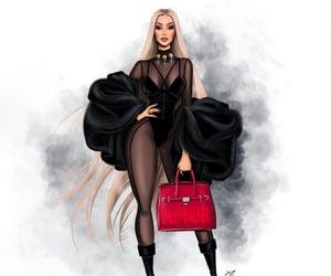 fashion illustration, iggy azalea, and girl image
