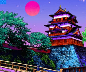 aesthetic, pixel, and japan image