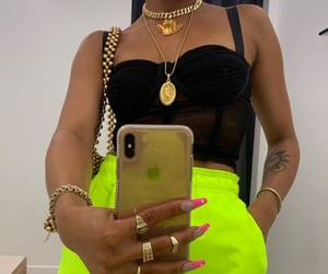 neon, jewelry, and nails image
