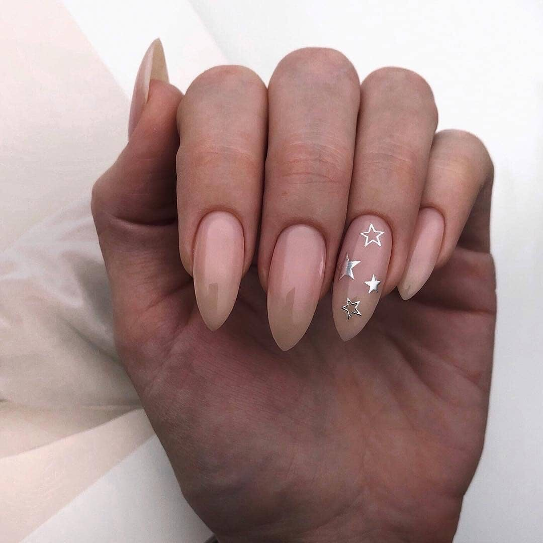 nails, stars, and beauty image
