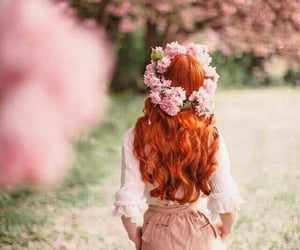 boho, chic, and redhair image