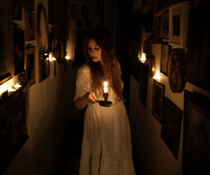 candle, dark, and vintage image